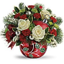 A Classic Holly Ornament Bouquet