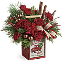 A Merry Vintage Christmas Bouquet